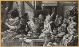 De koning drinkt, het Driekoningenfeest