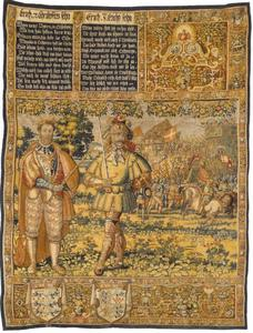 Erik VII (1249-1286) en Erik VIII (1274-1319) met een belegerde stad in de achtergrond