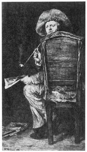 Portret van Frank Duveneck in zijn atelier
