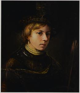 Portret van een onbekende man met een gevederde baret