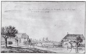 Watermolens en kapel te Viller bij Kleef