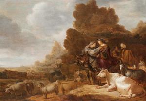 Het afscheid van de families van Abram [Abraham] en Lot (Genesis 13:8-9)
