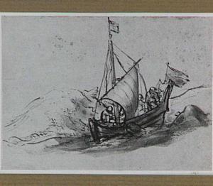 Christus met zijn discipelen in de storm op het meer van Galilea