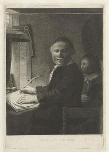 Portret  van Lieven Willemsz. van Coppenol (1598-1667) en Antonius van Coppenol (1645-1671)