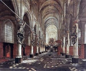 Interieur van de Sint-Walburgiskerk, Antwerpen