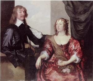 Dubbelportret van John Hamilton, later 1st Lord Belhaven and Stenton (?-1679) en zijn vrouw Margaret Hamilton (?-?)