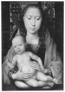 Maria met het Christuskind op een kussen