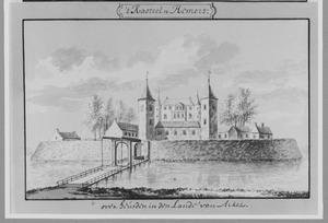 Voorzijde van kasteel Nederhemert bij Heusden