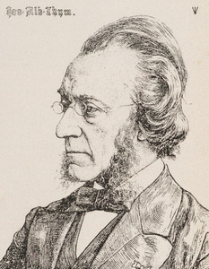 Portret van Josephus Albertus Alberdingk Thijm (1820-1889)