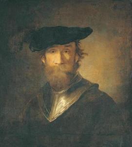 Portret van een man met gevederde baret
