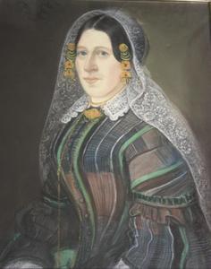 Portret van Pieternella Jacoba Kramer (1830-1910)