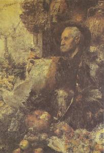 Portret van vader en profil
