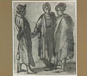 Drie staande mannen
