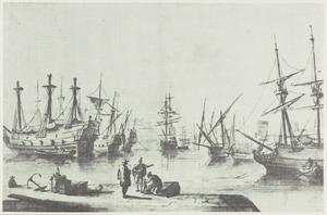 Mediterane haven met driemasters