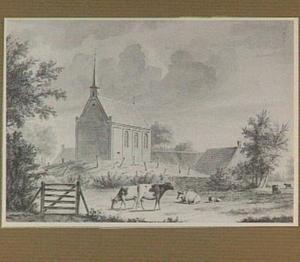 Oudeschoot, dorpsgezicht met kerk