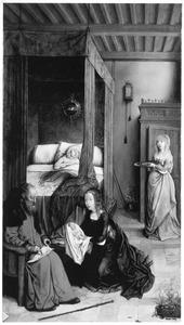 De geboorte en naamgeving van Johannes de Doper (Miraflores-altaarstuk)