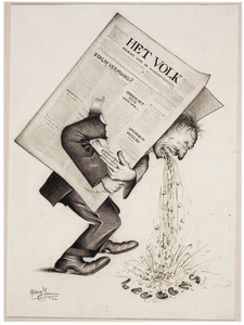 Karikatuur van dagblad 'Het Volk'