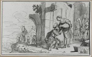 Rebecca en Eliëzer bij de bron