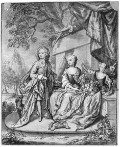 Portret van  Johan Lodewijk Haganus, Anna en Isabella van Wassenaer