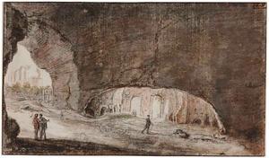Interieur van een grot in de buurt van Tivoli