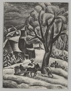 Winter in het Ertsgebergte