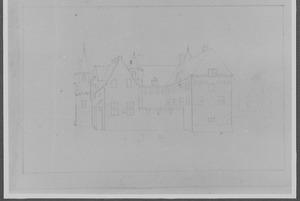 Achterzijde van het Oude Loo te Apeldoorn