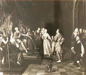 Scene in een paleis