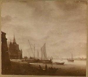 Gezicht op de Groothoofdspoort te Dordrecht