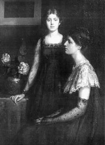 Portret Jeanette Josephina Maria Slager (1881-1945) en Cornelie (Corry) Josephine Wilhelmina Slager (1883-1927)