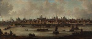 schepen voor een stad