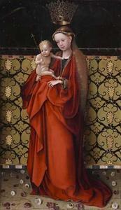Maria wordt gekroond door engelen