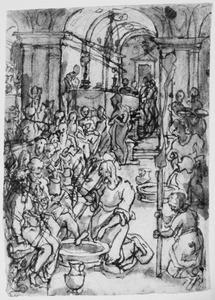 De voetwassing van de apostelen