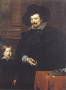Dubbelportret van de Genuese juwelier Puccio (?-?) en zijn zoon