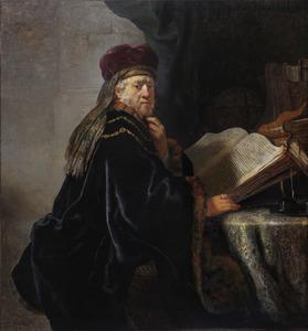 Een geleerde in zijn studievertrek