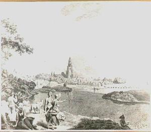 Arnhem, gezien vanuit het noordwesten