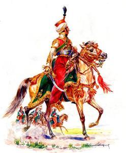 Officier van het escadron Mamelukken, Keizerlijke Garde