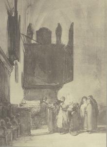 Doop in de St. Nicolaikerk te Kalkar