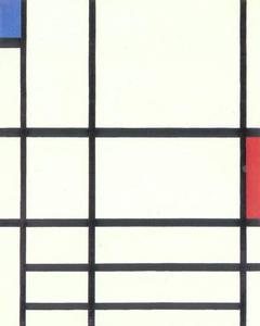 Composition en rouge, bleu et blanc: II