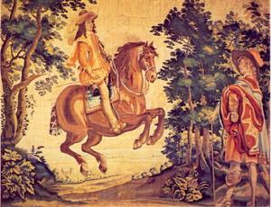 Dressuuroefeningen van Koning Lodewijk XIII: croupade
