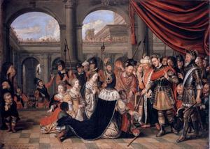 De familie van Darius voor Alexander de Grote