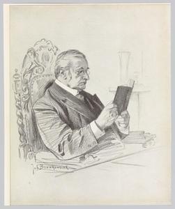 Portret van Jhr. Alexander Frederik de Savornin Lohman (1837-1924)