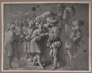 Jozef door zijn broeders verkocht als slaaf (Genesis 37:28)