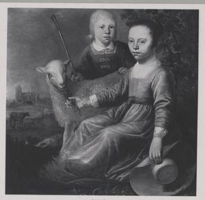 Portret van onbekende jongen en meisje