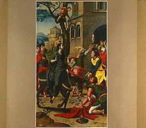 De intocht van Christus in Jeruzalem (op de buitenzijde: de H. Trudo)