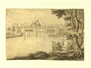Kasteel Tervuren gezien vanuit het noorden