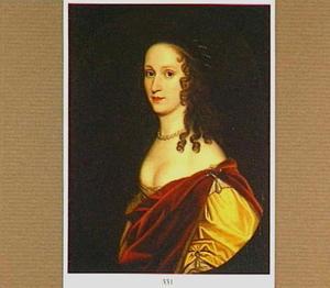 Portret van Sophia van de Palts (1630-1714), vijfde dochter van Frederik V van de Palts in een geschilderde ovaal