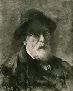 Zelfportret van Jozef Israels (1824-1911)