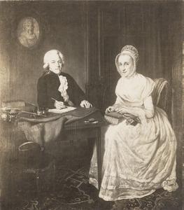 Dubbelportret van Cornelis Carbasius (1761-1845) en Agatha Houttuyn (1752-1816)