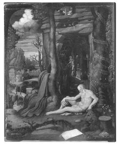 De H. Hieronymus in een landschap