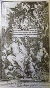 De graftombe van Plautus, met Thalia en putti met maskers